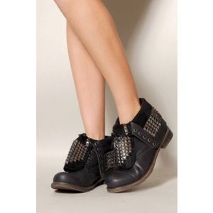 Studded ankle combat boots 7
