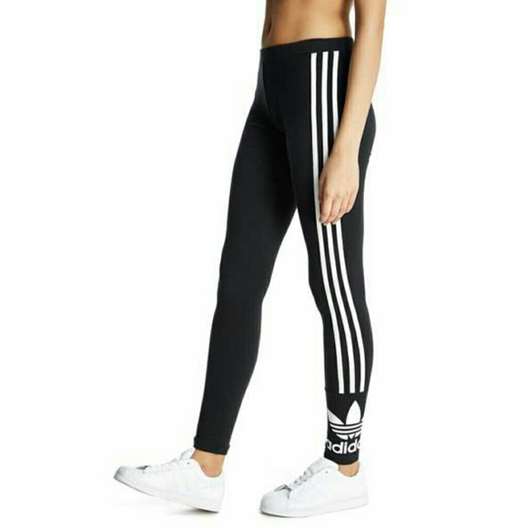 buying new lowest price new lifestyle Adidas original 3 stripe trefoil leggings NWT