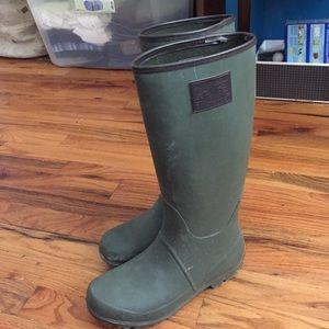 Green Ralph Lauren (Polo) rain boots. Size 7