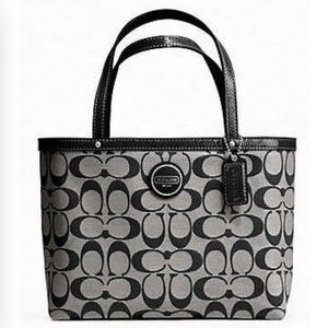 coach bag black and gray pm6x  coach black and gray purse