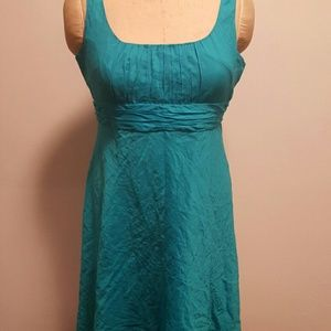 Turquoise fit and flare dress