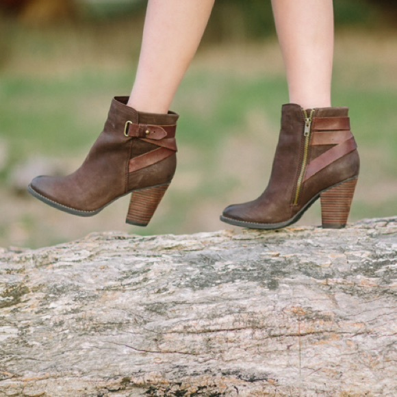 Shoemint Boots - Shoemint brown booties