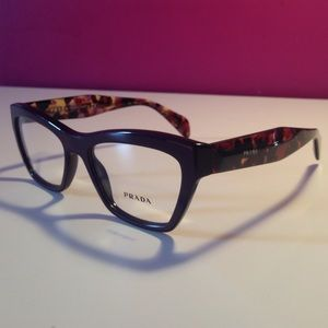 Prada Black Havana Thick Rim Glasses Frames NEW