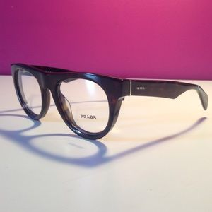 Prada Thick Rim Havana Dark Brown Glasses Frames