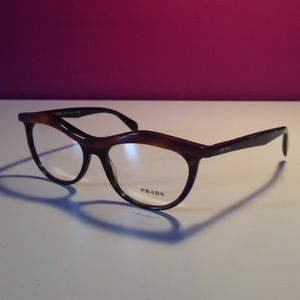 Prada Havana Brown Rim Glasses Frames NEW