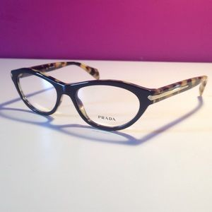 Prada Black Cat Eye Glasses Frames NEW