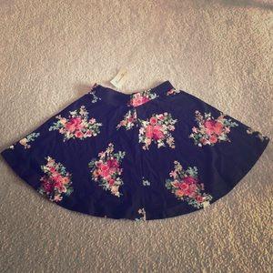 Floral Patterned Skater Skirt (Forever 21)