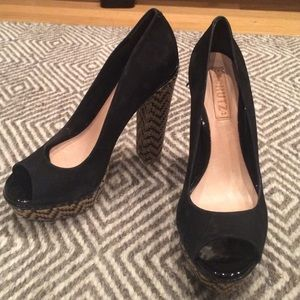 Black Suede Schutz Pumps Size 8
