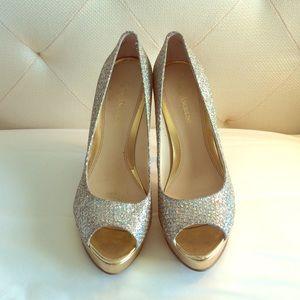 Silver & Gols Glitter/sparkle Heels