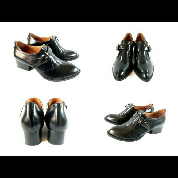 Jeffrey Campbell - Jeffrey Campbell Holmby Black Leather ...