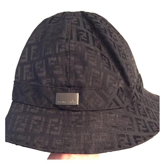 FENDI Accessories - Authentic Black Fendi Zucca Bucket Hat 510cd57a3606