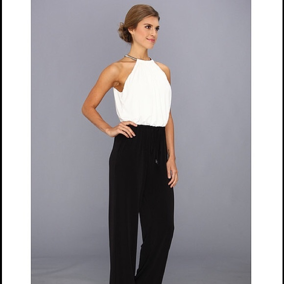 79d5c5263597 Vince Camuto black and white jumpsuit