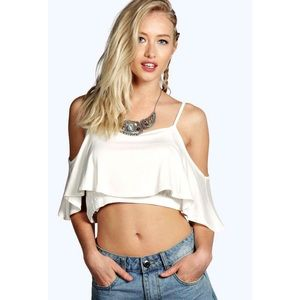 Off The Shoulder Ruffle Crop Top *NEW*