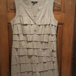 A beautiful ruffled layered dress