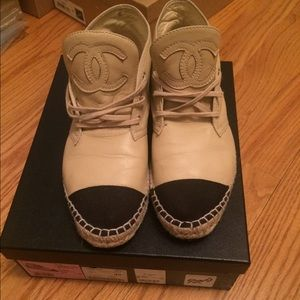Chanel espadrille sneakers