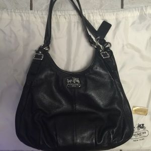 "4th of July Sale! Coach ""Maggie"" Black Leather Bag"