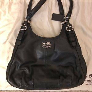 "Coach Handbags - SALE ""Maggie"" Black Leather Bag"