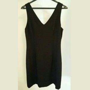 Nicole Miller crepe little black dress size 8