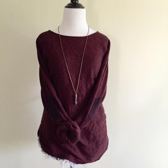 H&m Sweaters Burgundy Elbow