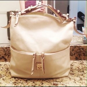 Dooney & Bourke nude purse gold detail