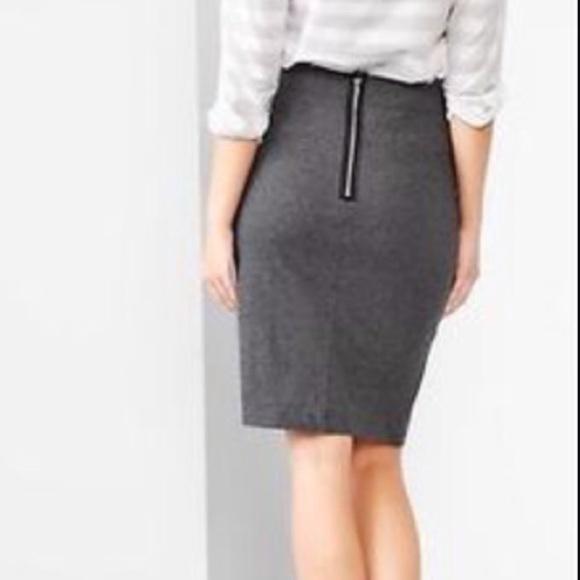 GAP - Gap grey pencil skirt exposed back zipper from Eva's closet ...