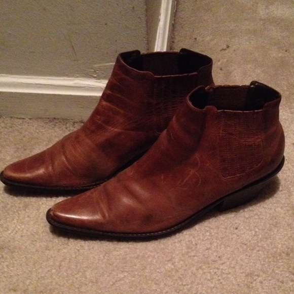 71 boots vintage brown ankle boots from shop with