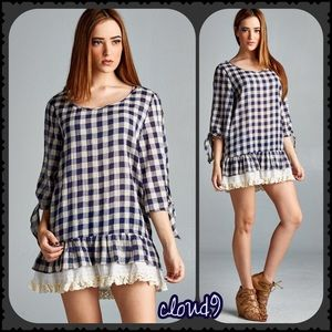 Cloud 9 Tops - 🆕 just arrived ~ Pretty in Checkered Plaid Tunic