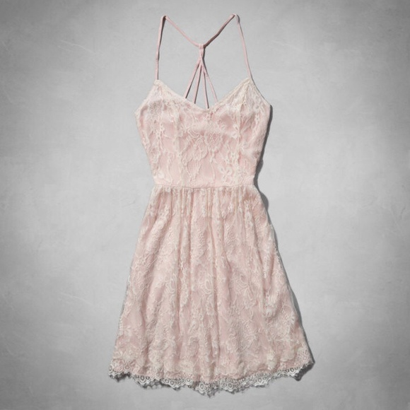 e6ef49c52b Abercrombie   Fitch Strappy Lace Skater Dress