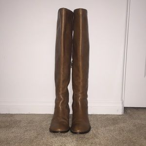 Kork ease brown thigh high boots size 6