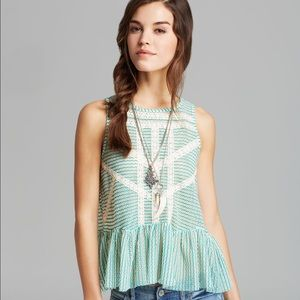 Free People Tops - Free People Lace Peplum - Green