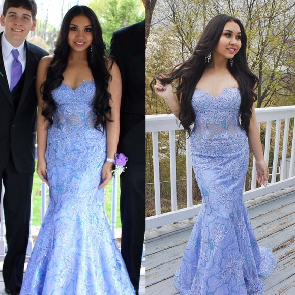 Jovani Dresses | Periwinkle Mermaid Prom Dress | Poshmark