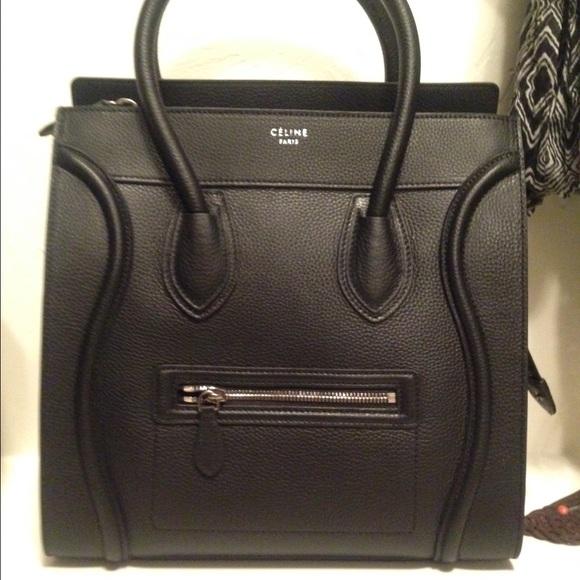58ea1301e6e02 Celine Bags | Mini Luggage Black Pebbled Leather | Poshmark