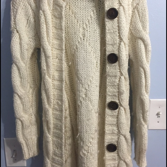 56% off Outerwear - Thick Off-white Cardigan from Niesha's closet ...