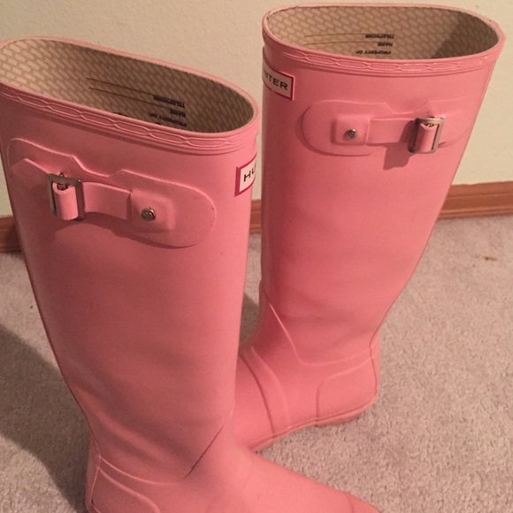 29% off Hunter Boots - Glossy light Candy Pink hunter rain boots ...