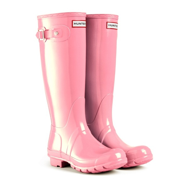 29% off Hunter Boots Boots - Glossy light Candy Pink hunter rain ...