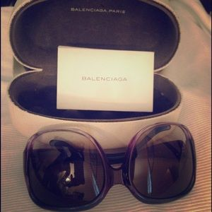 Balenciaga Purple Oversized Sunglasses BAL 0008/S