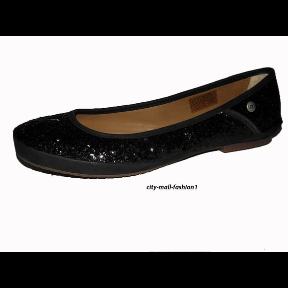 Authentic Ugg Australia Antora Black Flats shoes