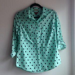 NWT Merona Polka Dot Button Up Shirt