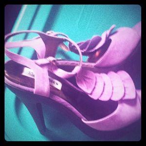 Steve Madden Shoes - Steve Madden Lavender Suede Platform Heels