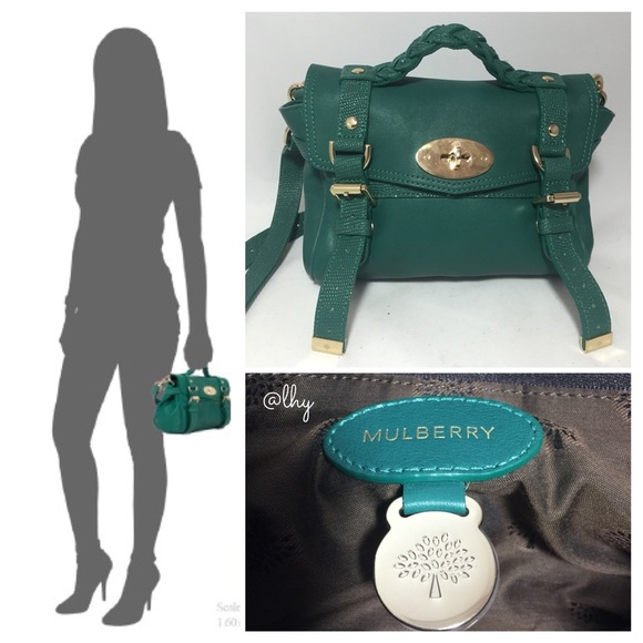 Mulberry Bags   Mini Alexa Emerald Lizard Trim   Poshmark 059ad73954
