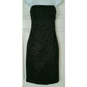 Guess Dresses & Skirts - GUESS  leopard spot strapless black dress
