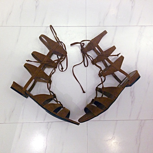Add Photo For Faux Suede Lace-up Gladiator Sandals 7c1dc0b2b2ba