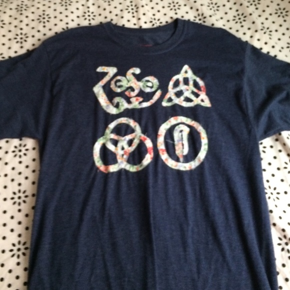 Vintage Tops Led Zeppelin Symbols Navy Shirt Poshmark