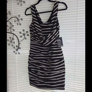 Express Dress Black and white stripes. Size 4