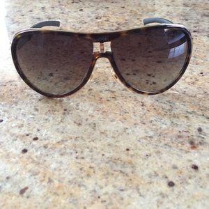 Gucci sunglasses Havana Gold Aviator