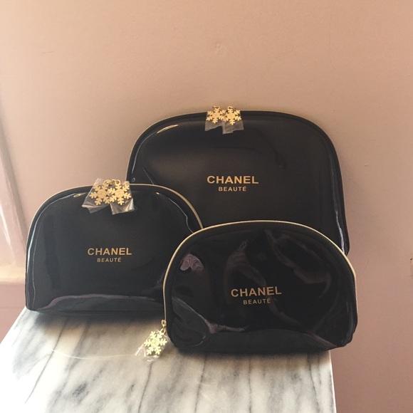 1c45b4331a4c CHANEL Accessories | Cosmetic Bag Set Three Sizes Black New | Poshmark