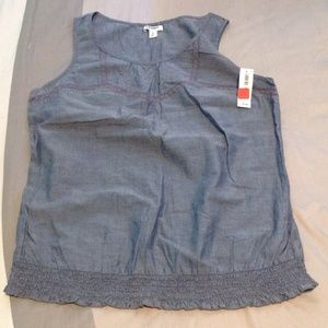 NWT denim Old Navy top size M