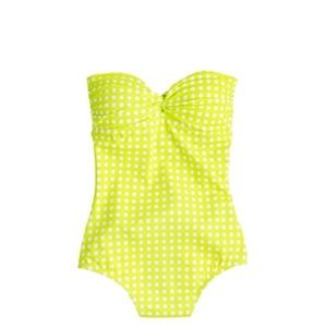 J. Crew Other - J. Crew Grid Dot Bandeau Swimsuit