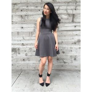 {zara} grey skater dress
