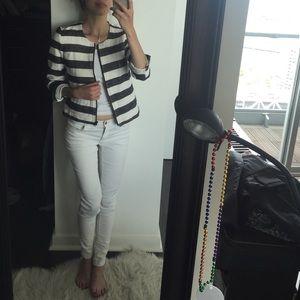 LOFT nautical striped jacket